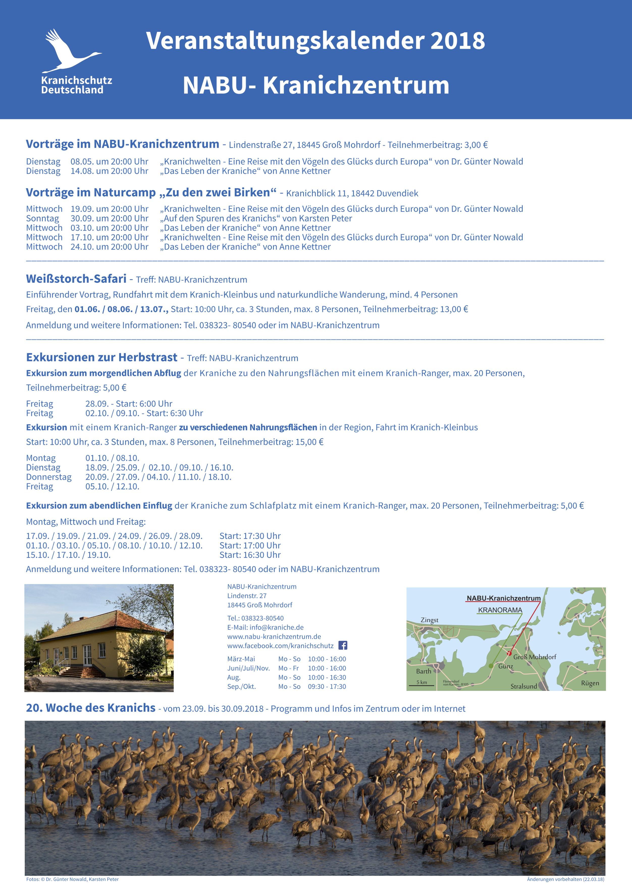 Poster Veranstaltungen Kranichinfo 2018 A2