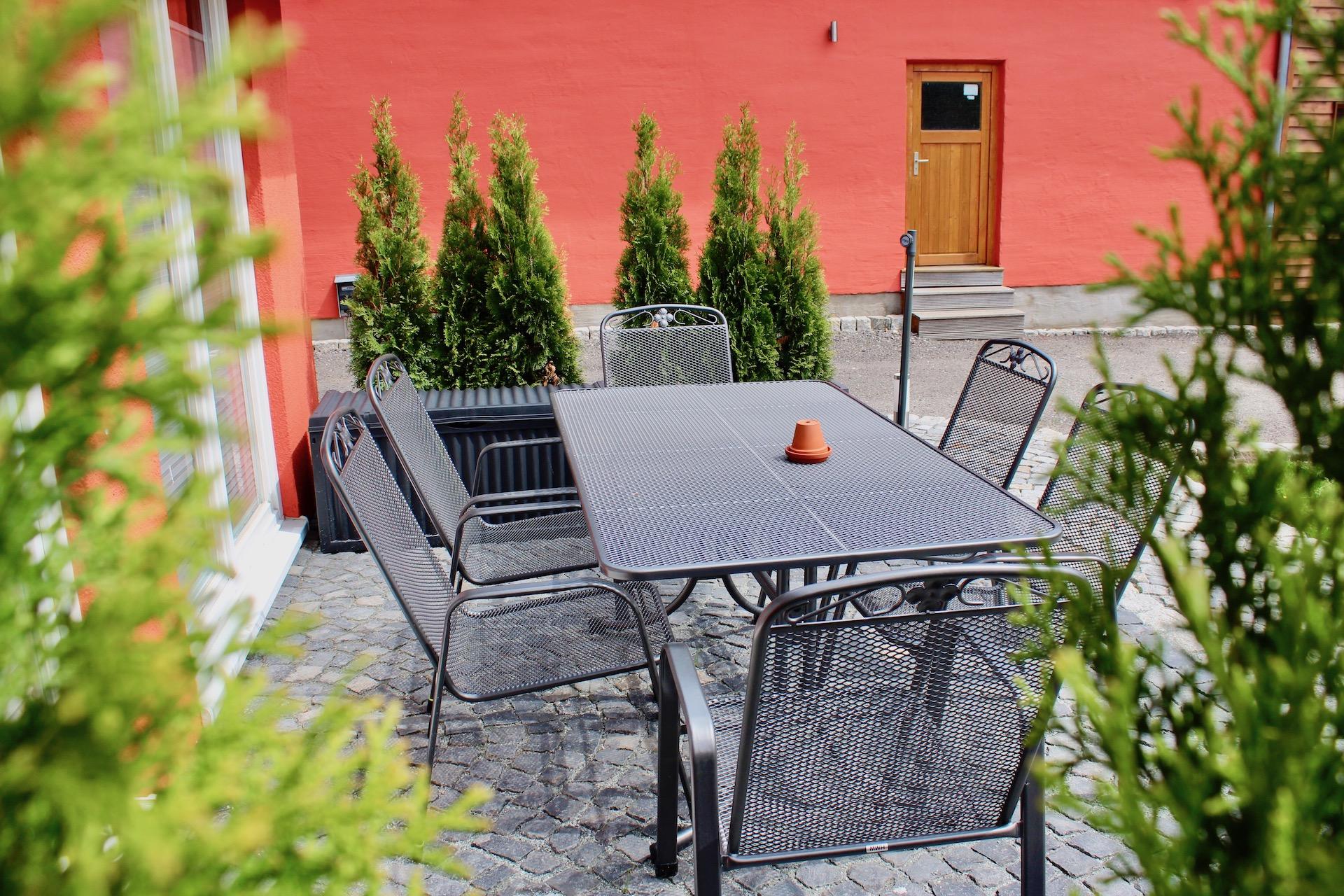 Ferienwohnung für 6 Personen Terrasse
